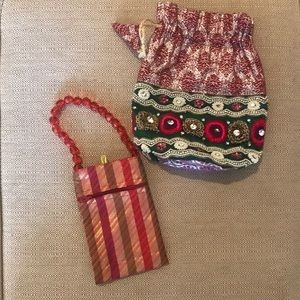 Women's pouch/wristlet & phone carrier/wallet
